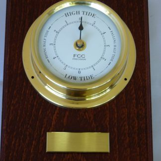 Tide Clock mounted on wood