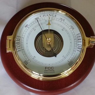 Wood mounted Prestige Barometer
