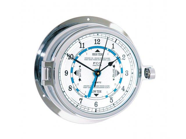 marine quality cast chrome time u0026 tide clock - Tide Clock
