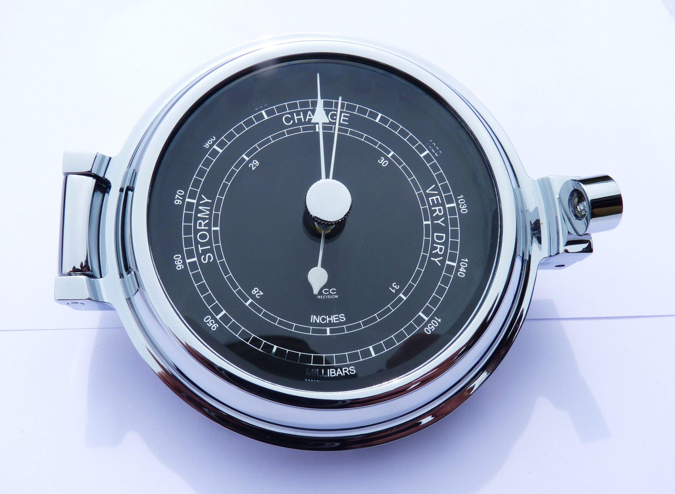 Chrome Barometer Low Profile