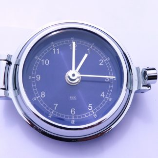 Chrome Ships Clock