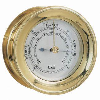 Small Capstan Brass Barometer