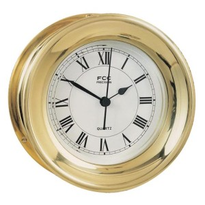 small capstan brass clock
