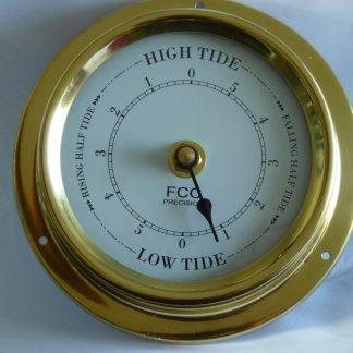 Tidal Clock spun brass