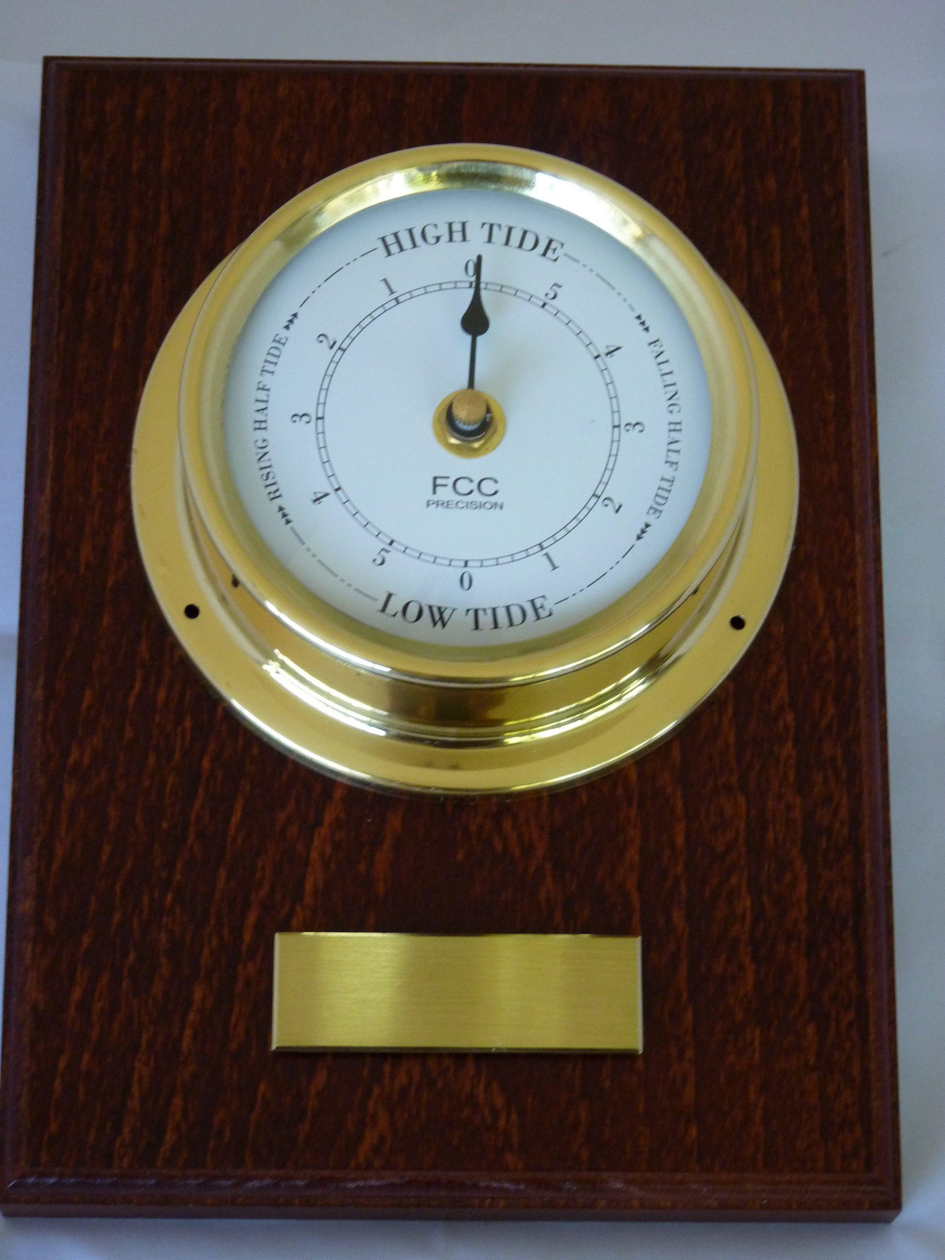 Tide Clock mounted on wood
