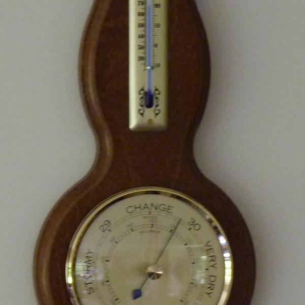 Banjo Barometer 390mm Dark Oak
