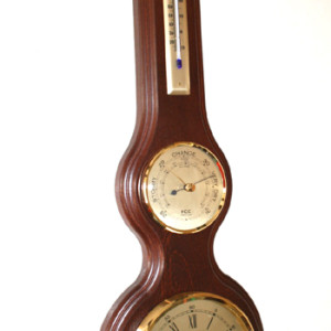Banjo Barometer with Clock