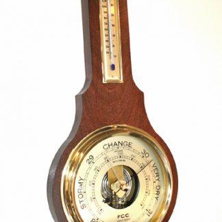 Banjo Barometer 710mm Mahogany finsih