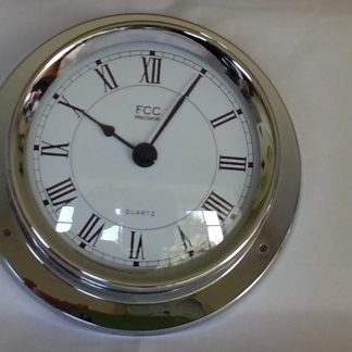 Nautical style chrome clock