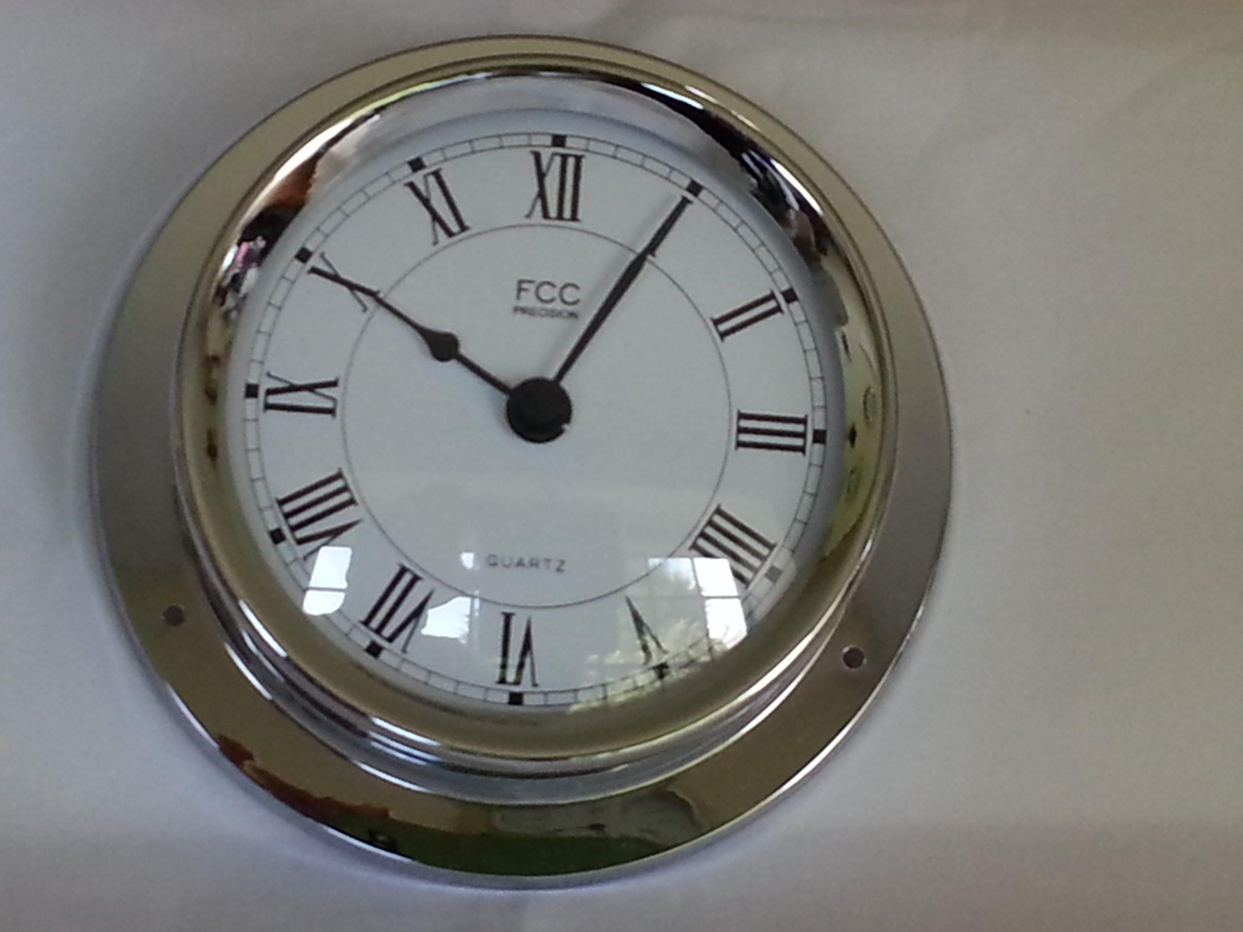 Nautical style chrome clock
