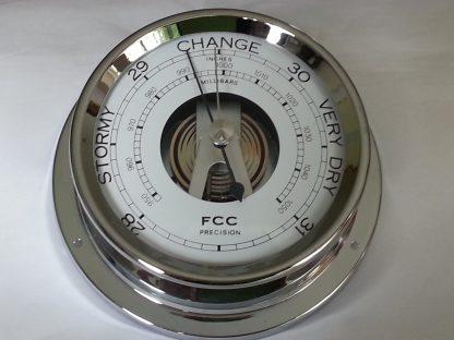 Chrome barometer for home