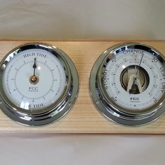 Coastal home set barometer & tide clock
