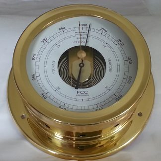 Nautical style brass barometer