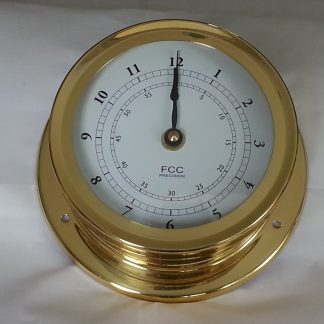 Large Nautical style brass clock