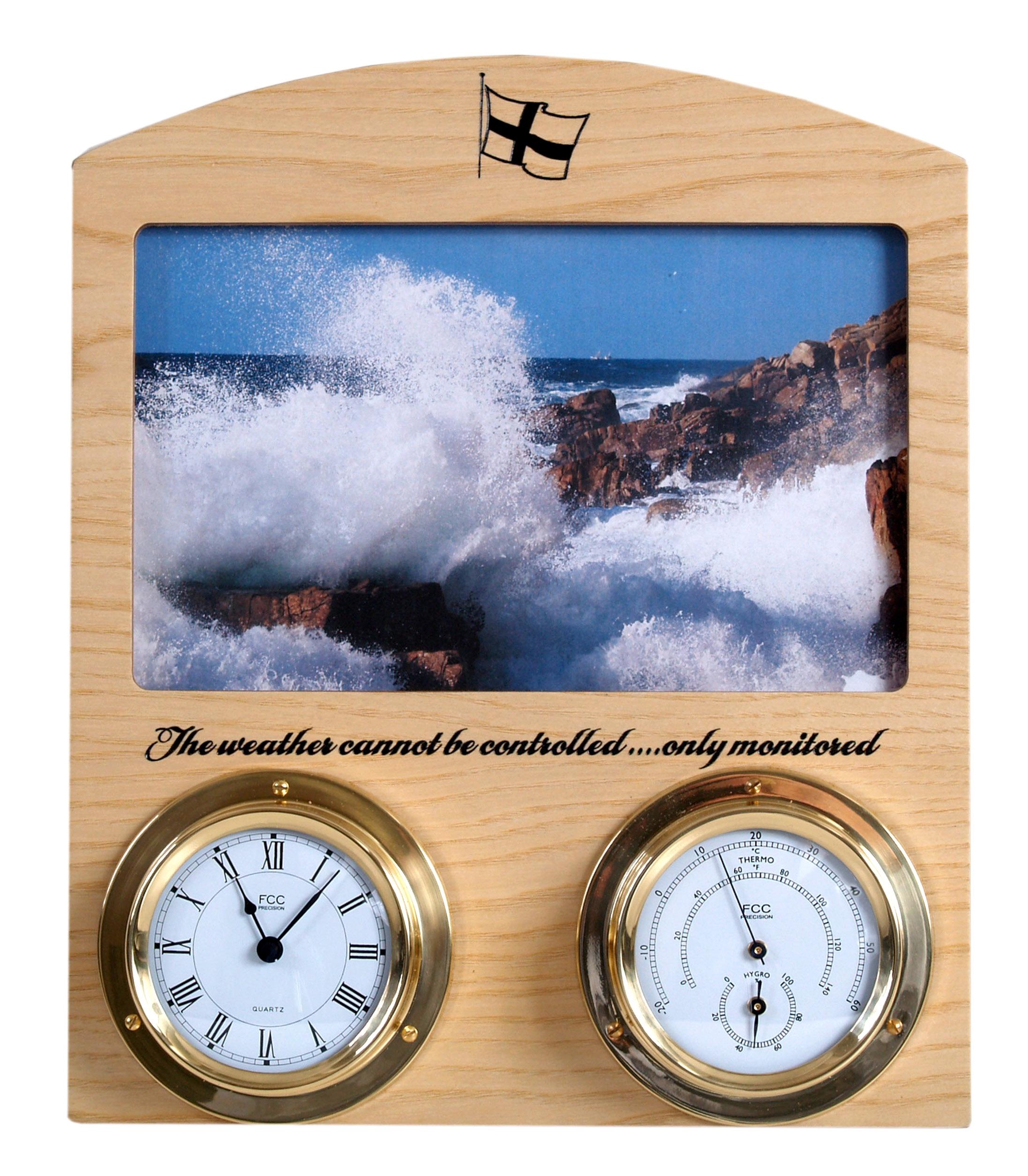 Cornish ash/brassIndoor weather station