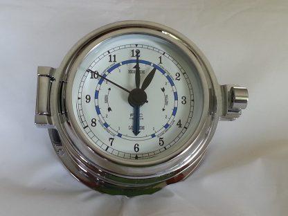 chrome time & tide clock