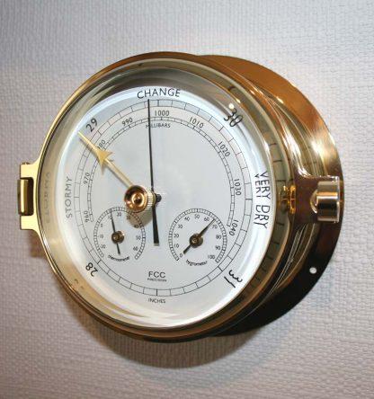 Brass barometer/thermometer/hygrometer