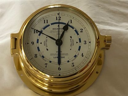 Brass Time & Tide Clock