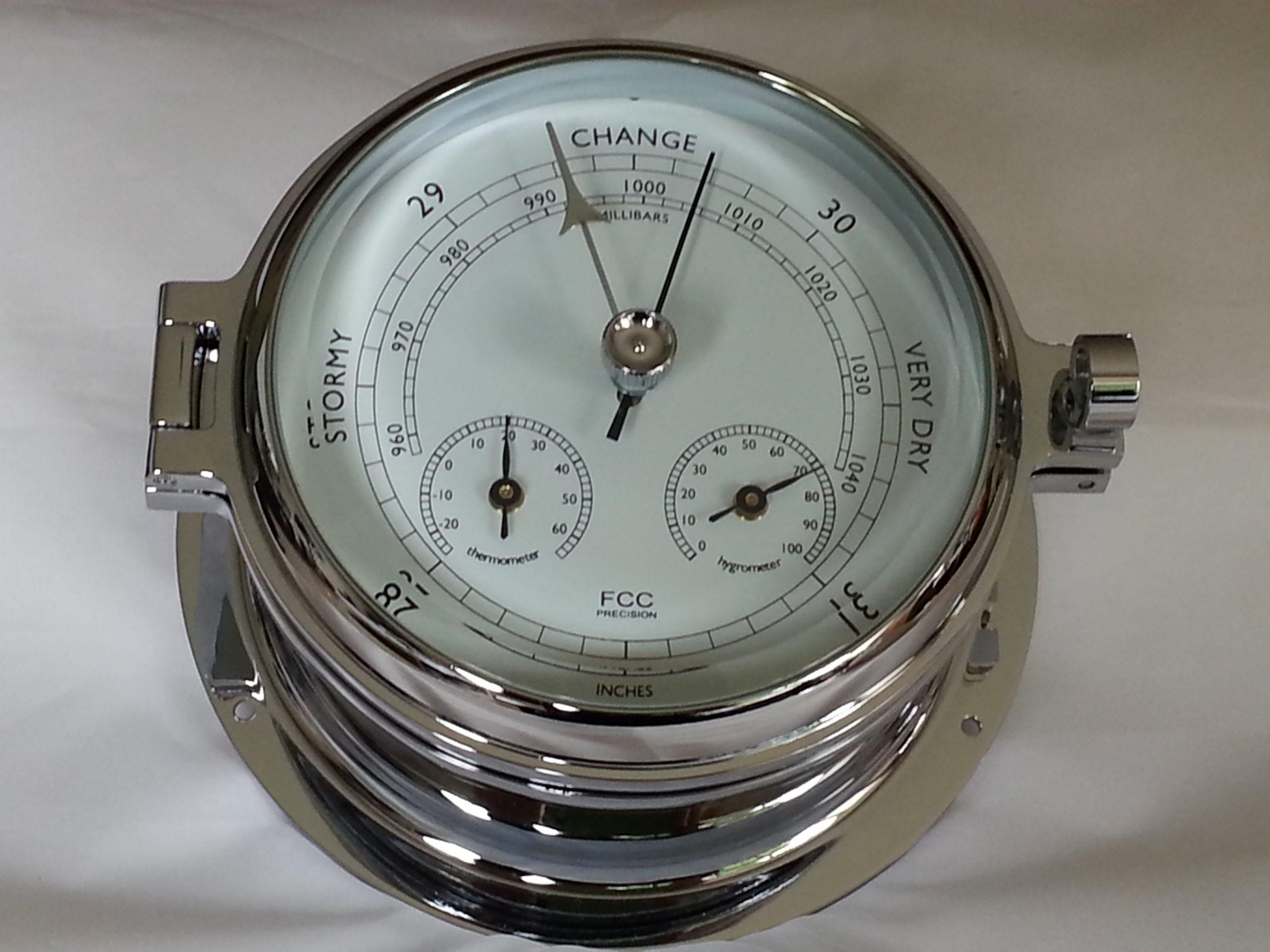 Chrome Barometer Thermometer Hygrometer