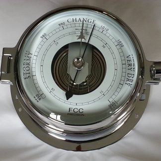 chrome marine barometer for boat or home