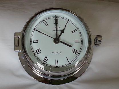 chrome radio controlled clock