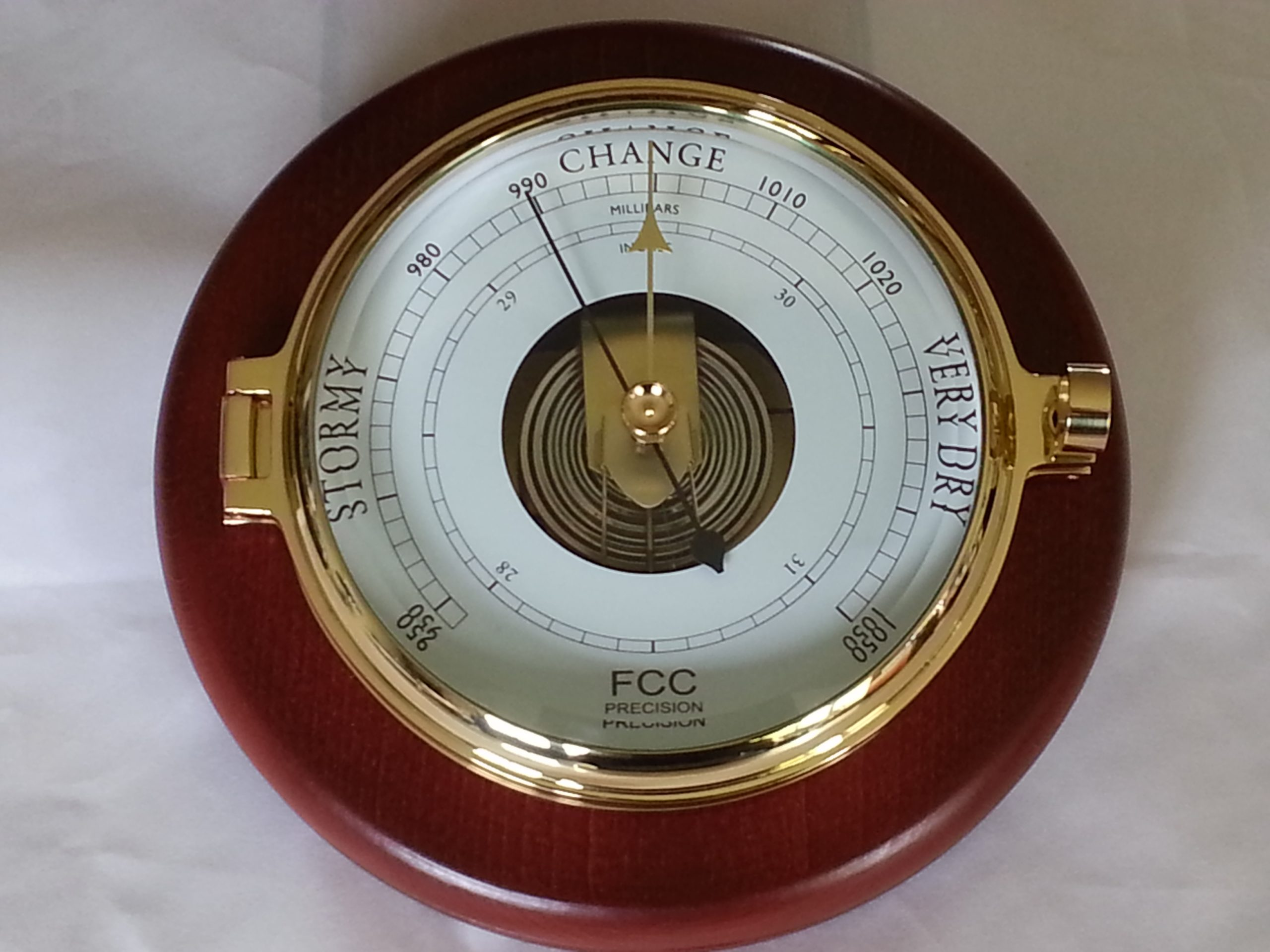 Wood mounted Prestige Barometer