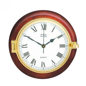 Wood mounted Prestige Clock