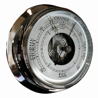 Large Chrome Barometer