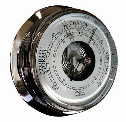 Large Chrome Barometer