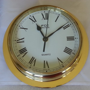 Large brass clock