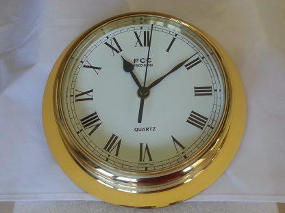 Large brass clock