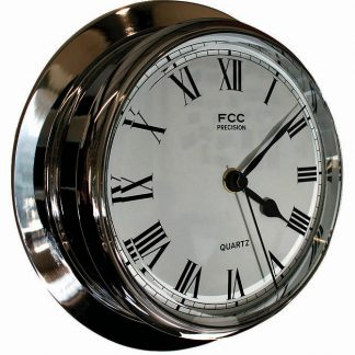 Large chrome clock sailing