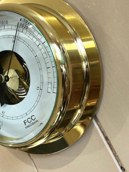 Large Brass Barometer