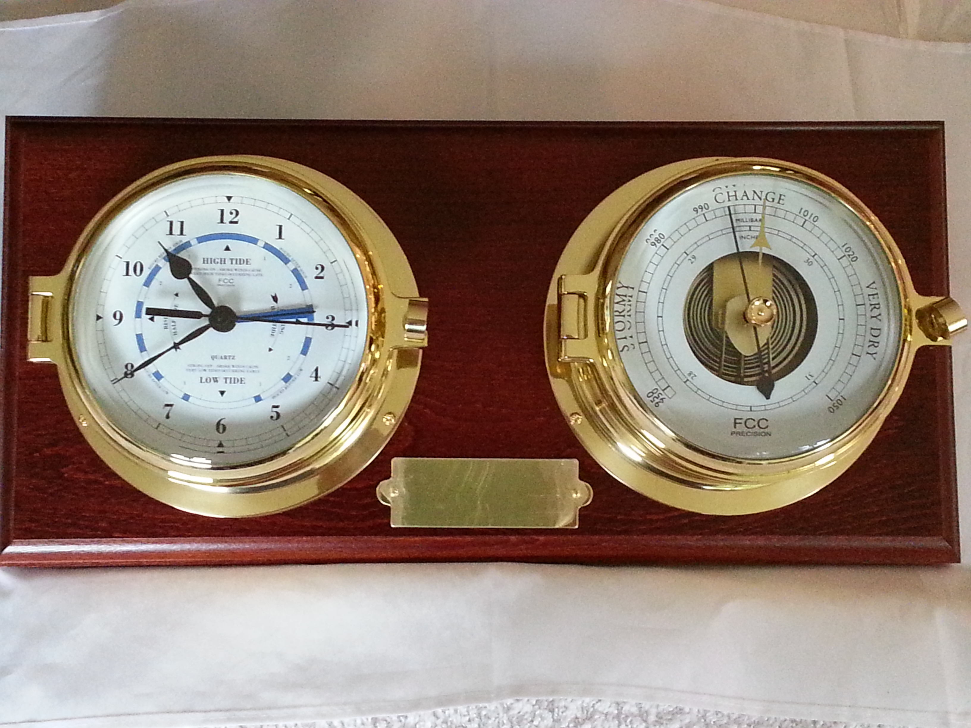 brass time and tide clock and barometer - Tide Clock