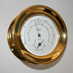 brass hygrometer thermometer