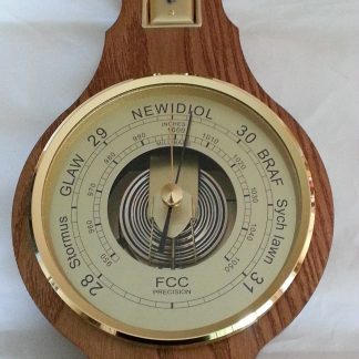 Welsh Language Barometer solid oak