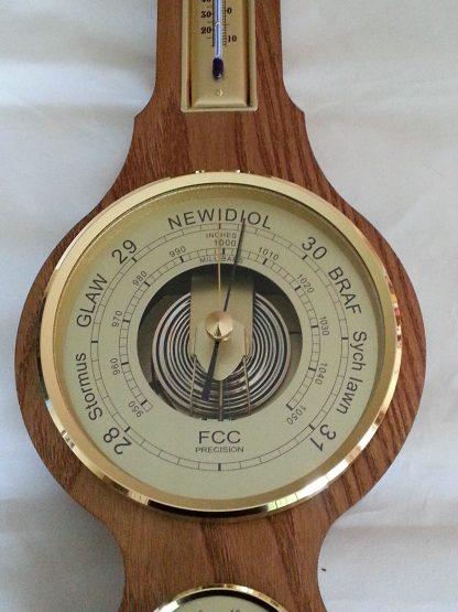 Welsh Language Barometer solid oak