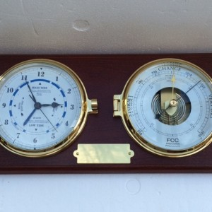 Presentation Barometer & Time & Tide Clock
