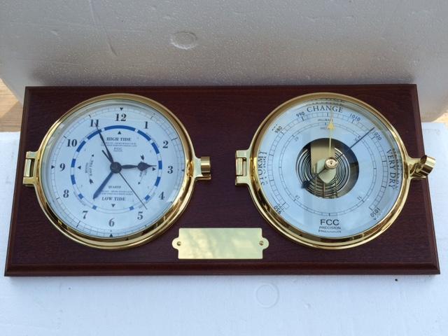 Presentation Barometer & Time & Tide Clock