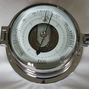 Back-Lit chrome Barometer day use