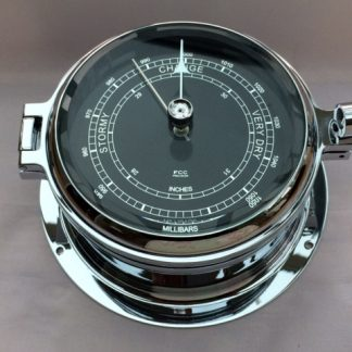 chrome black faced barometer