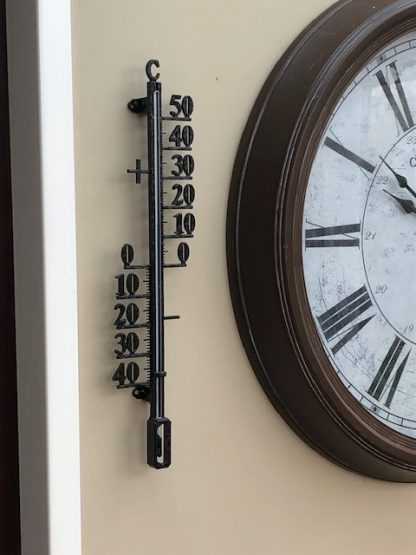 Cast Iron Outdoor Thermometer