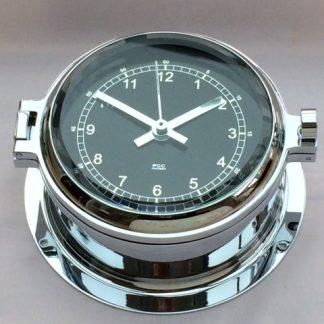 Prestige chrome black dial 160mm marine Clock